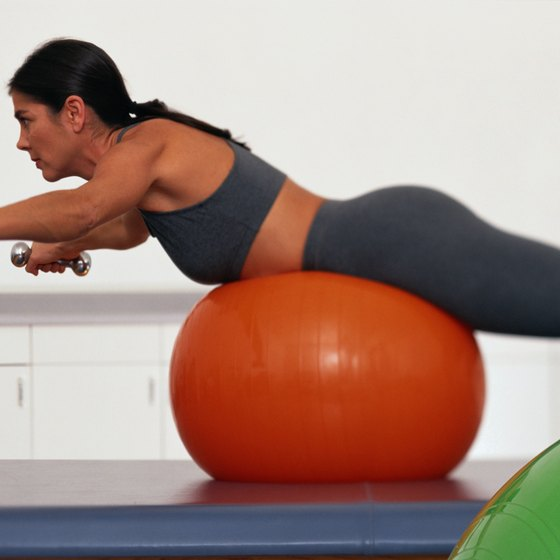 Progress to reverse flys on a stability ball.