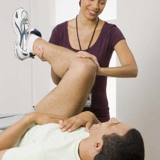 A physical therapist can teach you exercises to strengthen your knee after an injury.