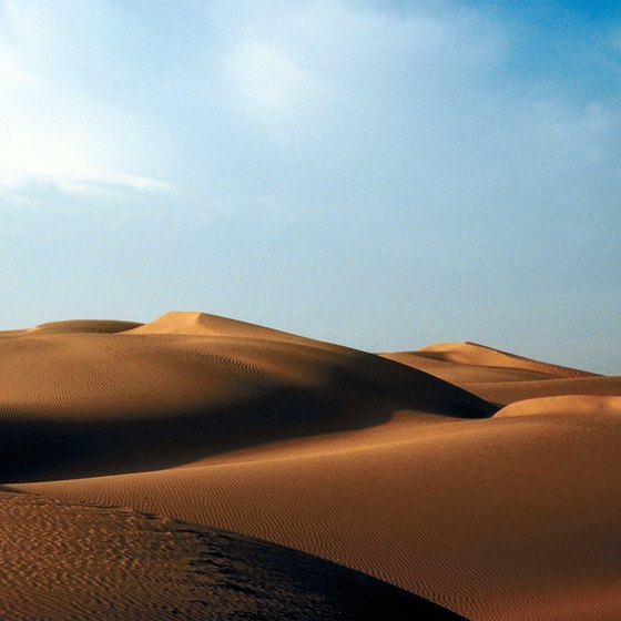 Deserts in India are the hottest and driest areas in the country.