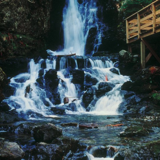 One of the smaller stepped waterfalls in Fundy National Park