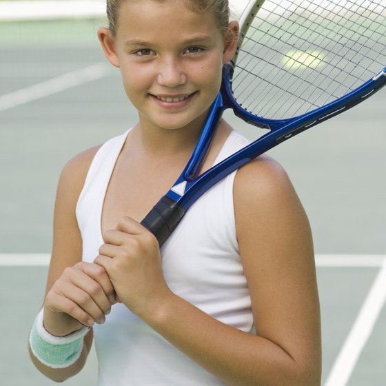 Fun tennis drills can pique a child's interest in the sport.