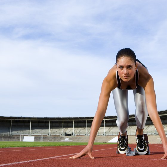 Sprinters' hearts work to pump oxygen to their muscles.