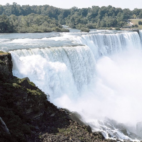 Some 750,000 gallons of water a second pour over the Niagara Falls.