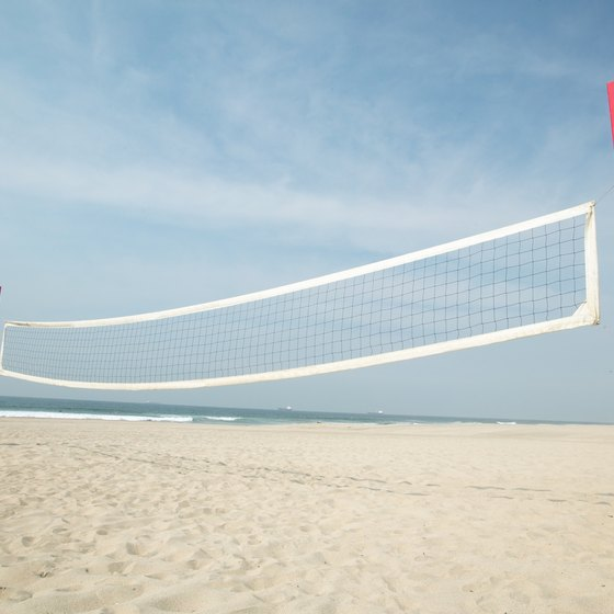 Beach volleyball rules differ from gym rules.