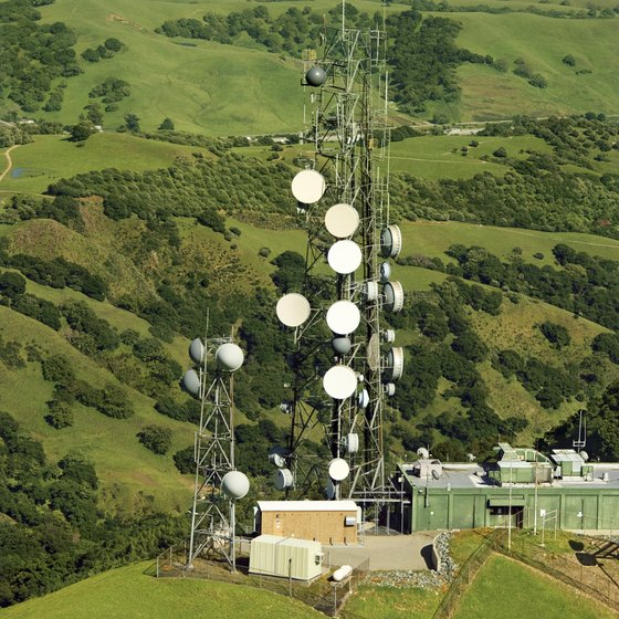 Getting above the hills and trees to catch a good signal is key to Internet in hilly terrain.