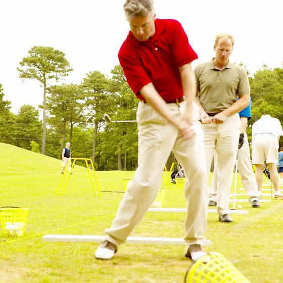 Choking up on your pitching wedge is an effective practice technique.