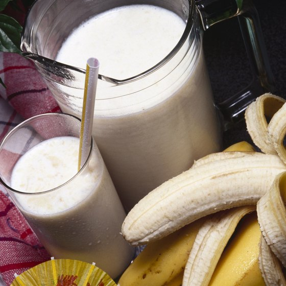 Whipping up a batch of banana smoothies takes just minutes, but offers many health benefits.