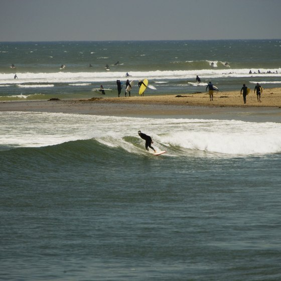 A surfer takes a right at Surfrider Beach, just west of Calabasas.