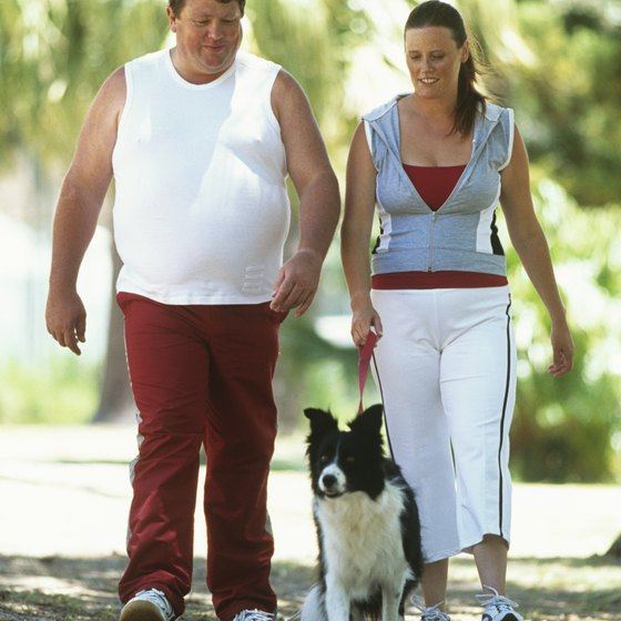Even obese people can walk at a slow pace.