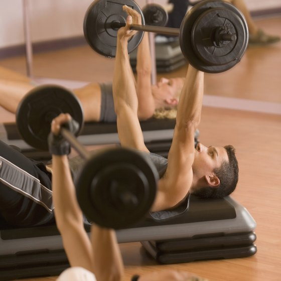 The bench press is a helpful exercise that focuses on the muscles in the arms and chest.