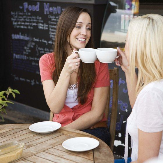 Cafes might offer several blends of coffee to please different tastes.