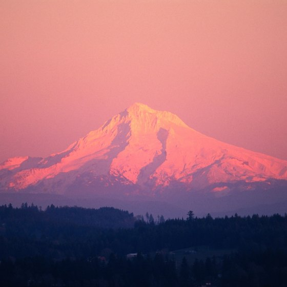 Mount Hood is about an hour's drive from Portland, Oregon.
