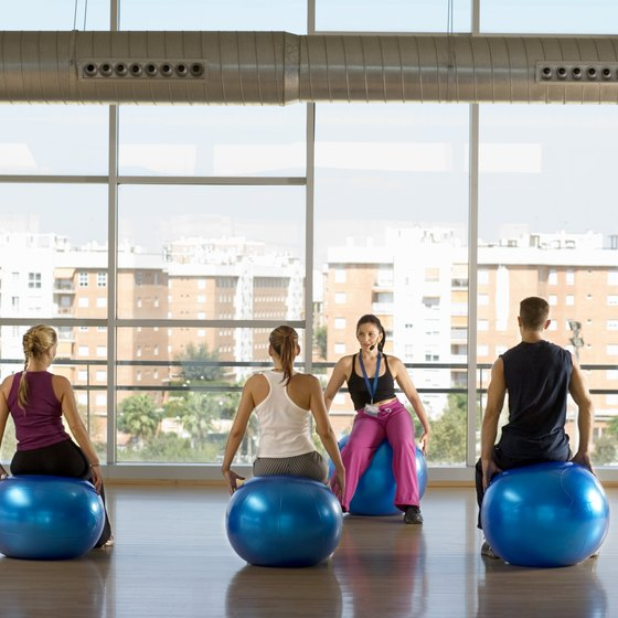 Exercise balls activate your core muscles.