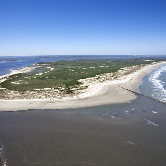 The Georgia coast is made up of a string of barrier islands.