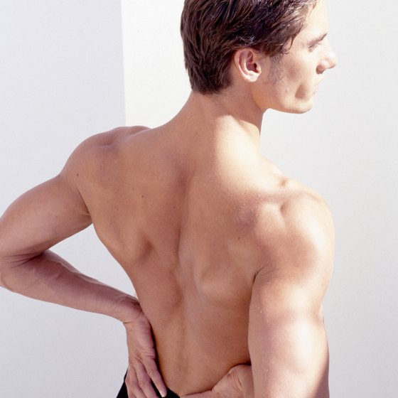 Intense back soreness after exercise can be a sign of muscle strain.