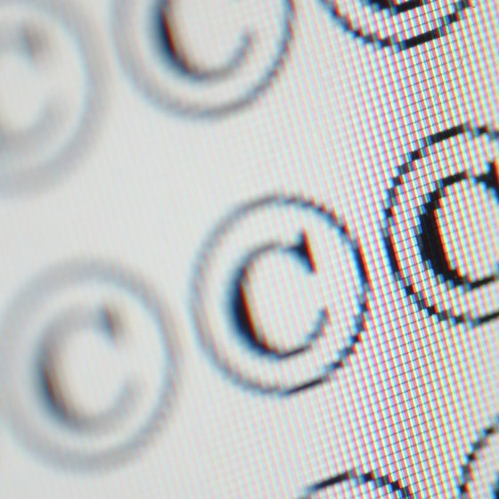 "An encircled ""C"" is the official copyright symbol."