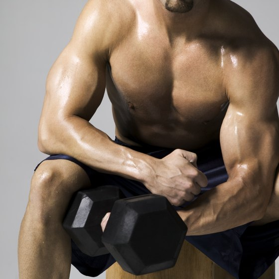 Dumbbell concentration curls can help you build your biceps.