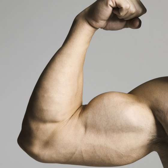 Triceps dips can help build your upper arms.