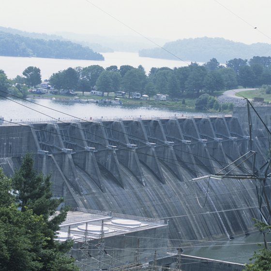 Cherokee Dam created Cherokee Lake, a popular recreation area.