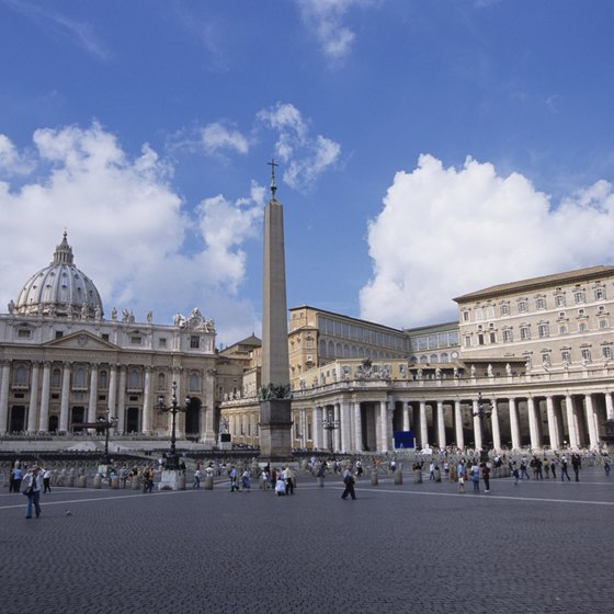 Naples is just a short train ride from central Rome and its many sights, such as St. Peter's Square.