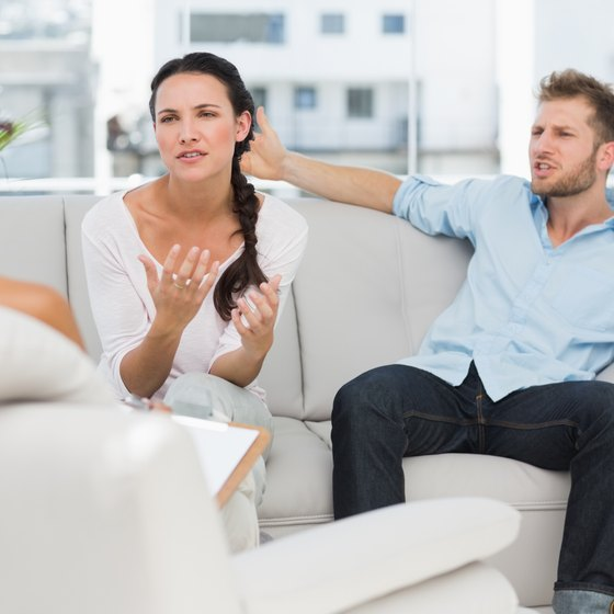 Image of a couple at therapy.