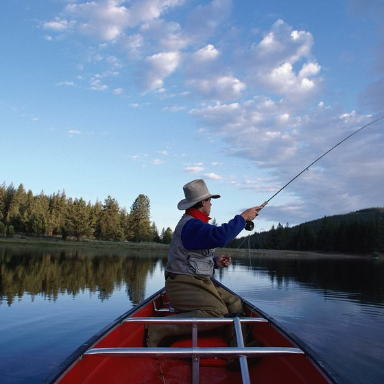 The state has numerous lakes stocked with trout and salmon.