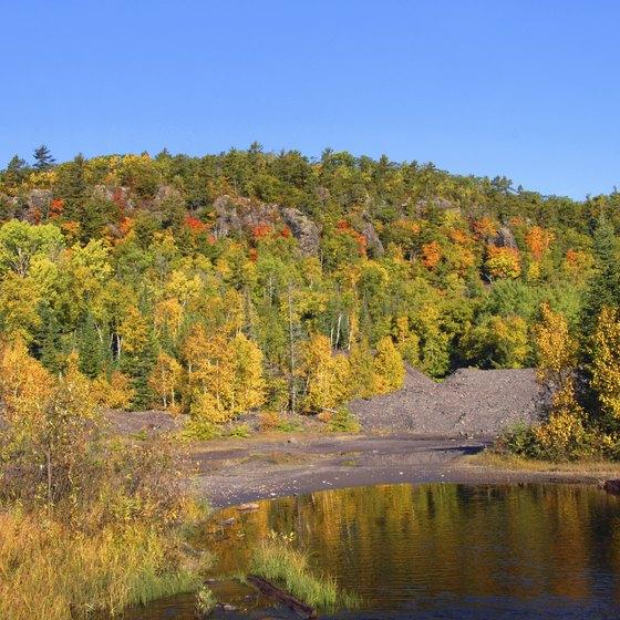 Trees on the Upper Peninsula change earliest.
