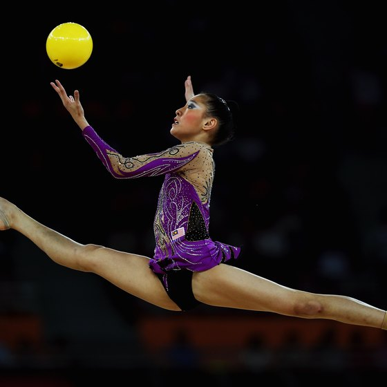 Rhythmic gymnastics is an Olympic sport using balls in dance.