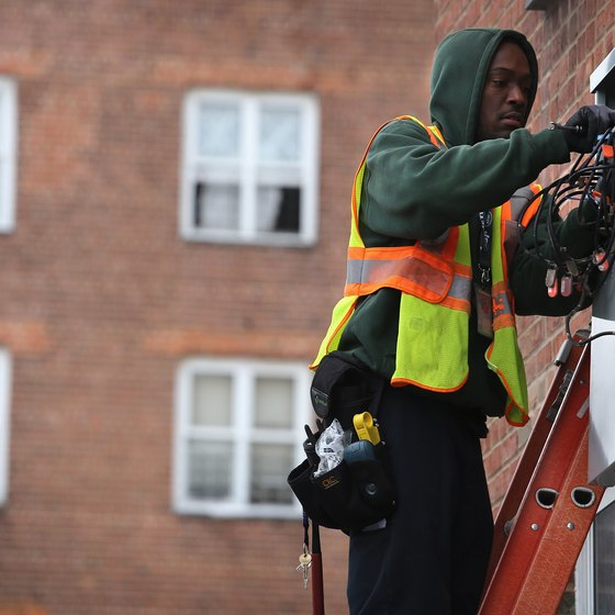 Cable operators install wirelines to residences and businesses.