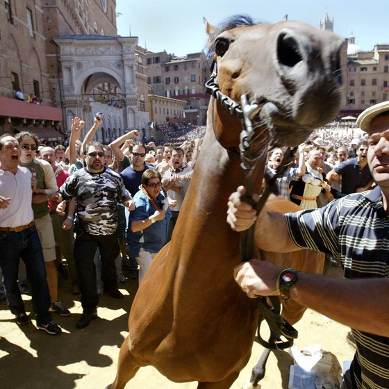 Il Palio horse race in Siena is held in August as well as July.