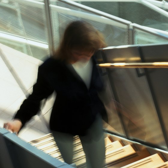 Taking the stairs instead of the elevator helps promote weight loss.