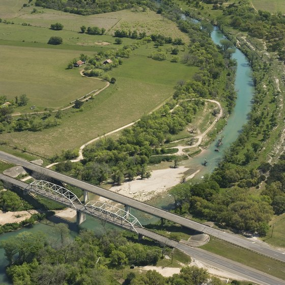 Several campgrounds line the banks of the Guadalupe River.