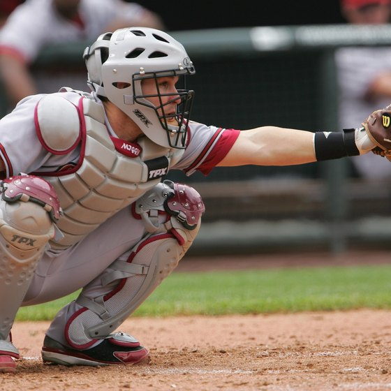 D'backs catcher Miguel Montero wears shinguards but not knee savers.