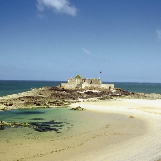 Brittany, with beaches like Grand Be at St. Malo, is France's second favorite coastal region for beach-lovers.