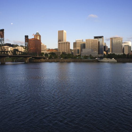 Many dog-friendly parks dot the Willamette River in Portland.