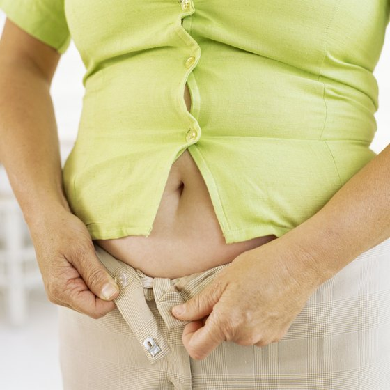 To lose belly fat, you must lose weight all over.
