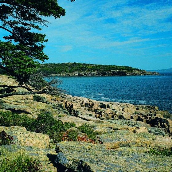 Acadia National Park has miles of Atlantic Ocean shoreline.