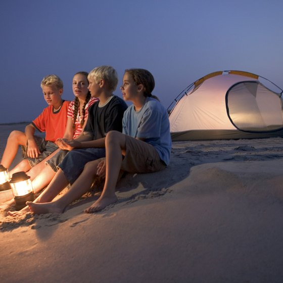 A spacious tent is essential for camping on the beach.