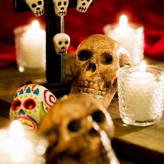 Mexico's Day of the Dead is normally depicted by the skull.