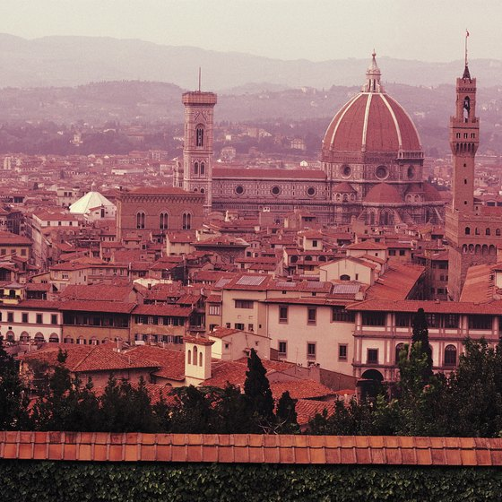 Taking the train is a scenic way to travel from Venice to Florence.