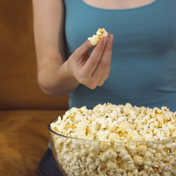 Air-popped popcorn is rich in minerals.