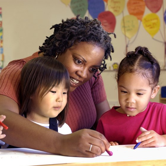 Daycare centers provide early education to preschool-age children.