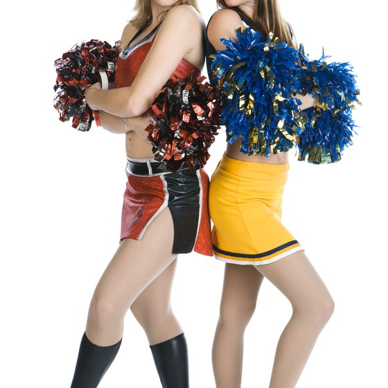 Cheerleading requires a dedicated amount of strength training for a lean and toned look.