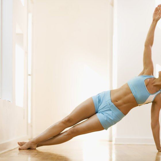 Side plank helps to strengthen your abs.