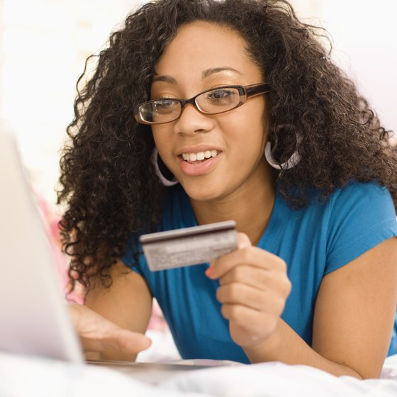Many online shoppers prefer to pay with a credit card.
