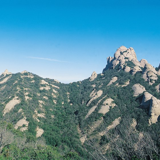 "The rugged Monserrat means ""jagged mountain"" in Catalan."