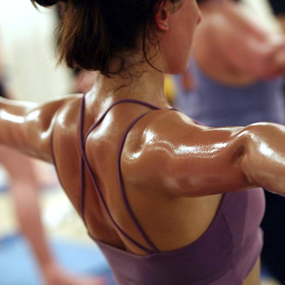 A Bikram yoga sequence includes poses for beginner, intermediate and advanced yoga enthusiasts.