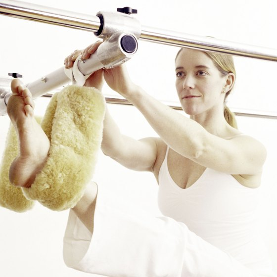 Pilates can be done with specialized equipment or on a mat.