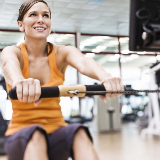 The rowing machine can burn 316 calories in 30 minutes for a 155-pound person.
