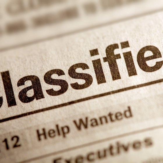Whether in black and white or HTML, classifieds draw attention.